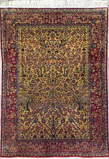 A218 Persian Silk Kashan 4.6x6.8