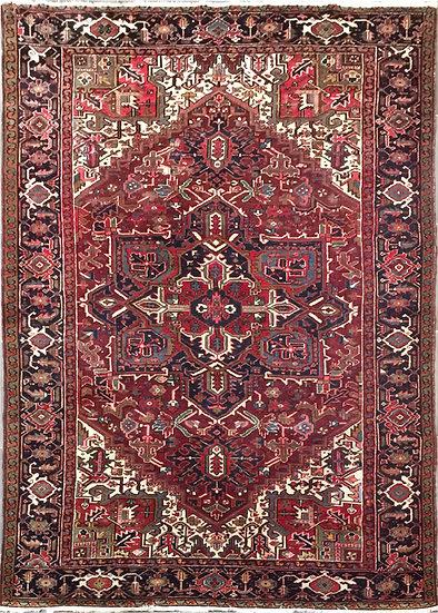 8A406 Persian Heriz 8x11.2