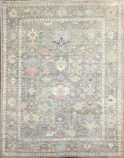 9A0367 Afghan Oushak 8.8x11.10