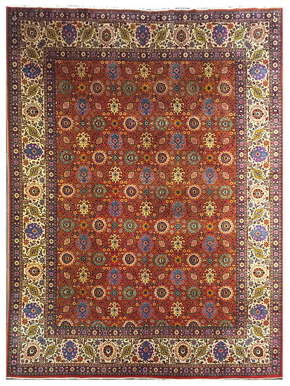 10A0181 Persian Tabriz 9.11x12.11