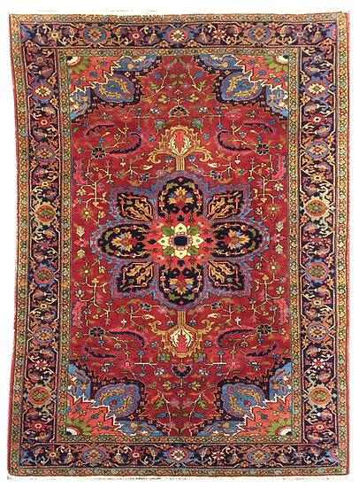 6A0147 Persian Heriz 6.1x9.3