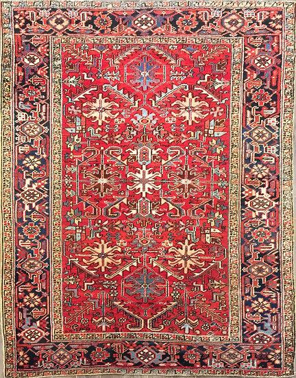 6A0165 Persian Heriz 6.3x8.1