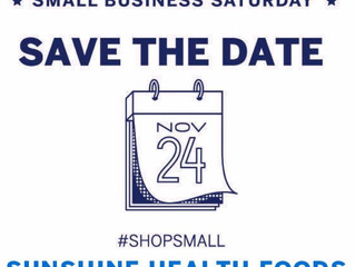 Small Business Saturday: Nov 24, 10 am - 4 pm