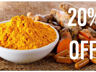 Weekly Special: All Turmeric / Curcumin products are 20% OFF