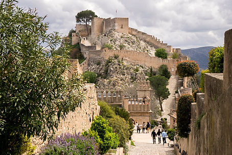Xativa Castle luxury cycle retreat holiday training camp in denia calpe mallorca spain with bike hire