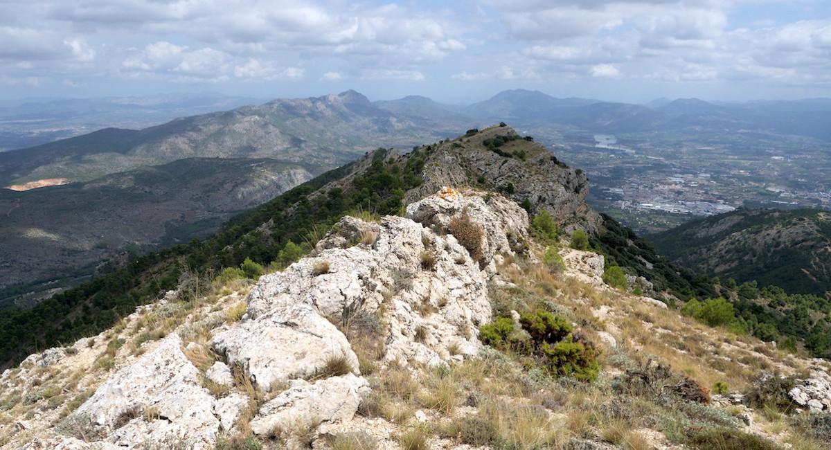 Agres mountain top