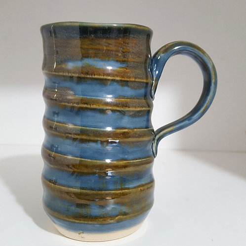Swirly Mug in sandy blue, holds 8oz
