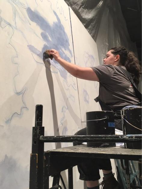 Medda Larkin Theatre Backdop Progress