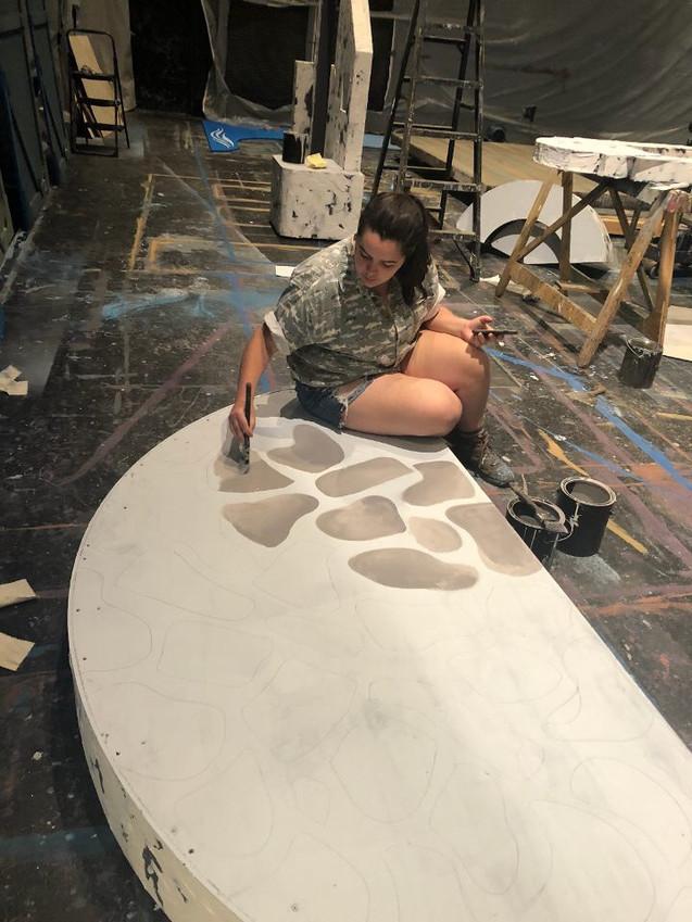 Stone floor treatment progress