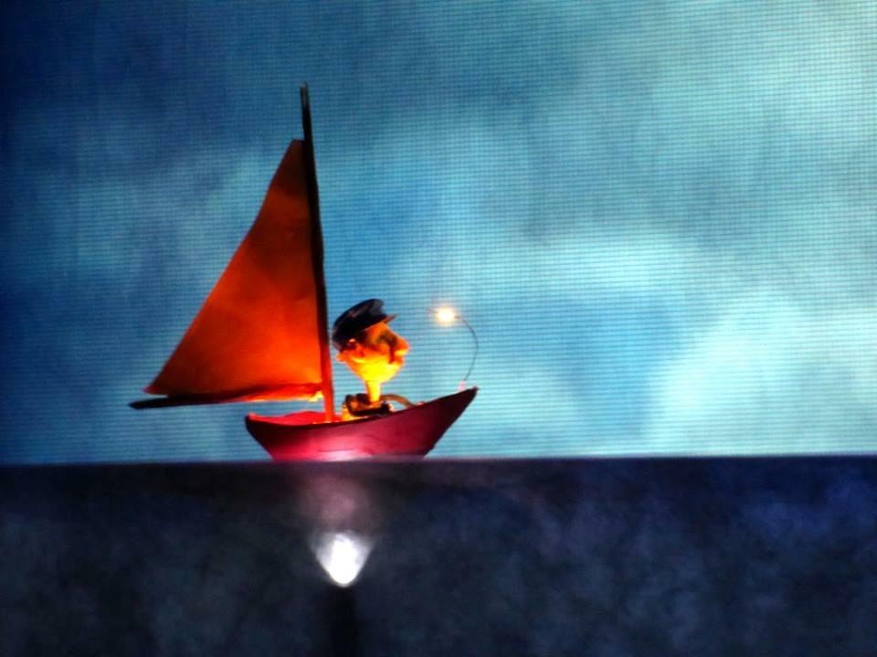 Tiny Harry in Boat