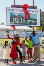 Children with Ali Tamposi & Pastor Moran