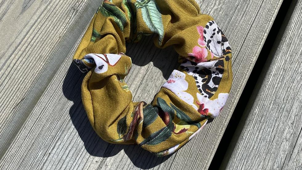 Scrunchie fjäril senap