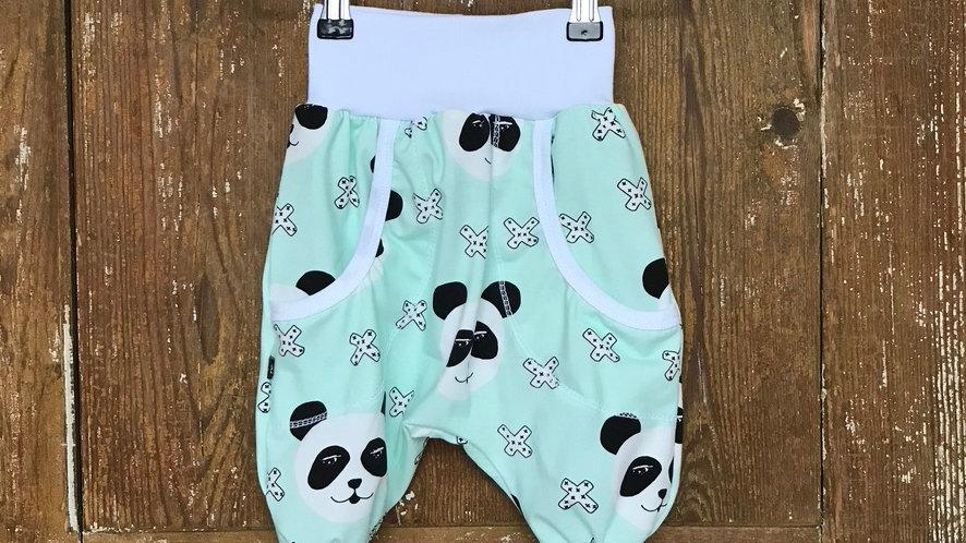Baggy byxor mintgrön panda