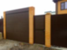 Рулонные ворота с калиткой