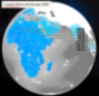 Africasat 1A C-Band footprint