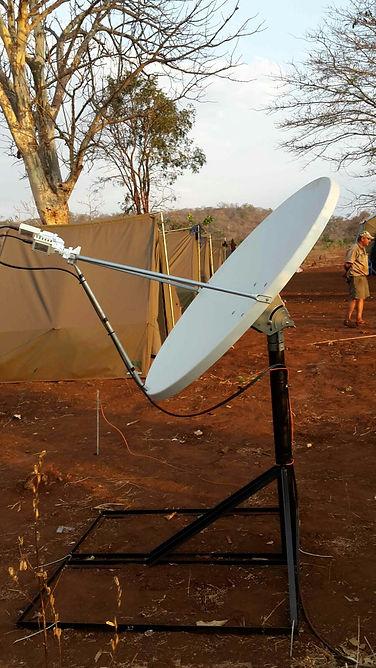 Remote VSAT Internet site