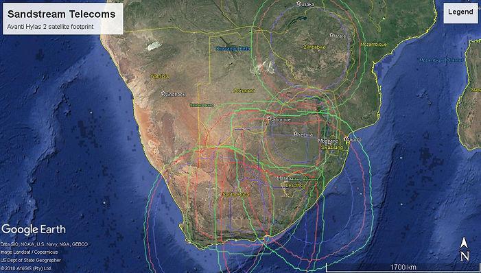 Hylas 2 satellite Footprint
