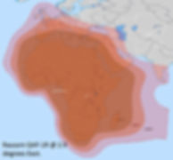 Rascom 1R Satellite footprint