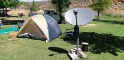 Camping with satellite Internet