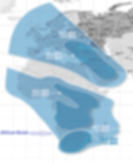 Yamal 402 satellite footprint