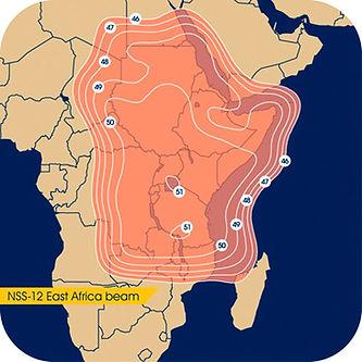NSS12 Ku Band Satellite Footprint