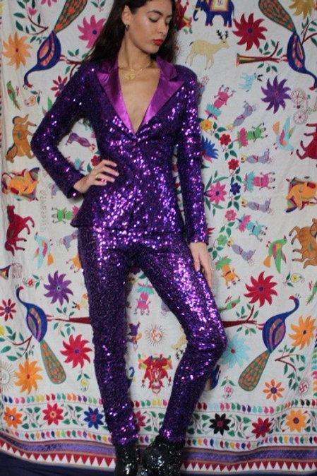 Purple and Pink sequin Tuxedo