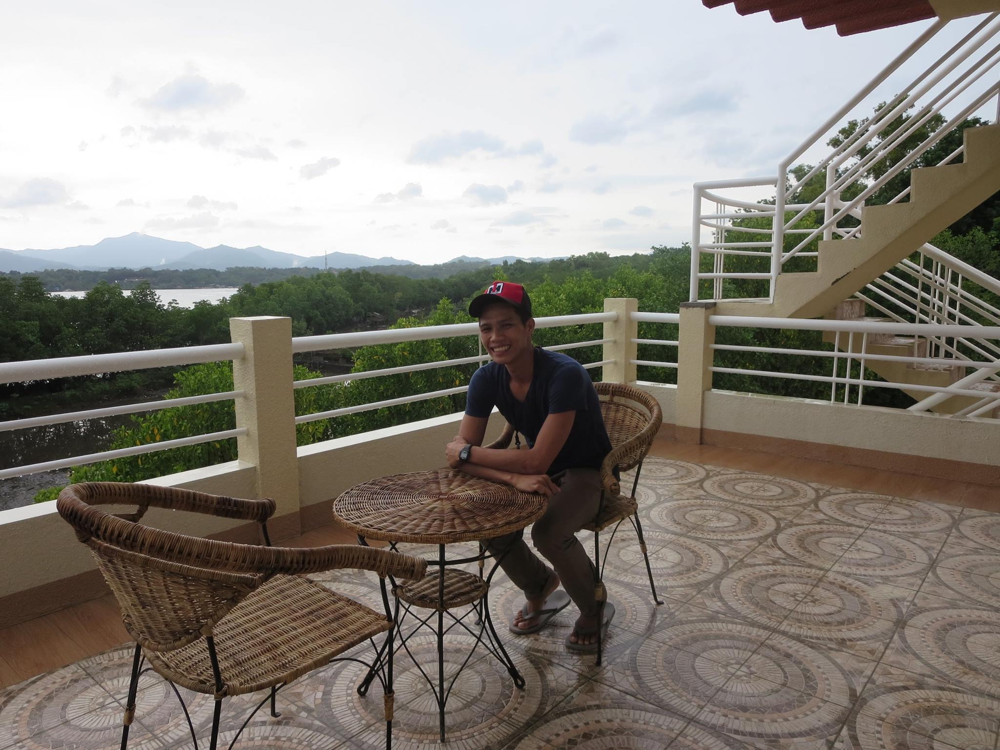 Enjoy a meal on the balcony