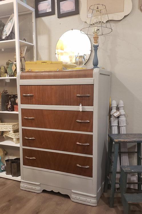 Antique Dresser, waterfall 4 drawer, A2