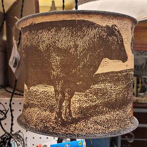 Hanging Light with Cow Print, A2