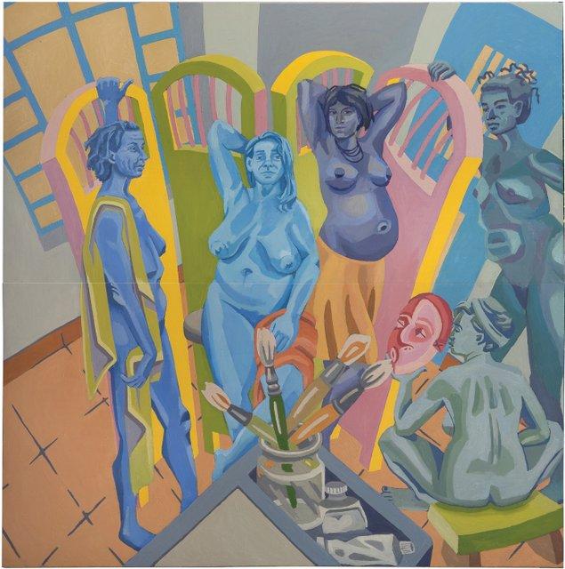 העלמות בכחול
