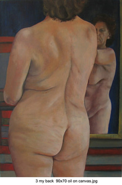 3 my back  90x70 oil on canvas