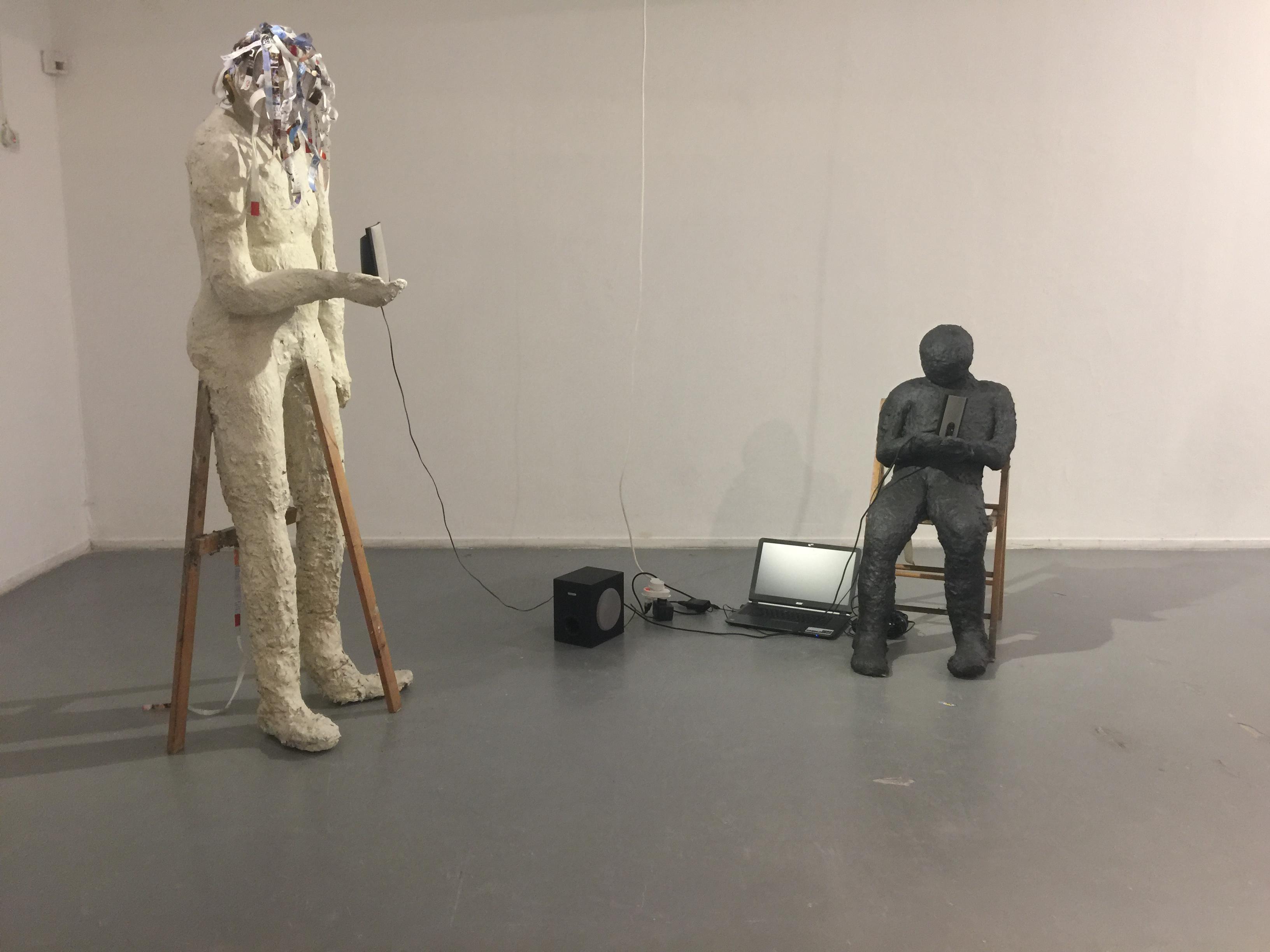 human size ,papier mache 2016