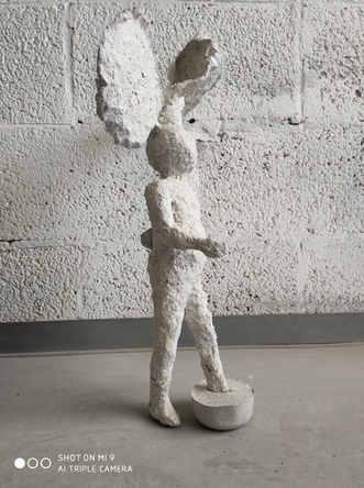 Golem, papier mach, 2017