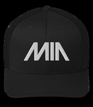 MIA Retro Trucker Hat - Black