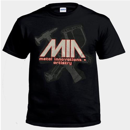 MIA HAMMER & GUN T-SHIRT - UNISEX - BLACK
