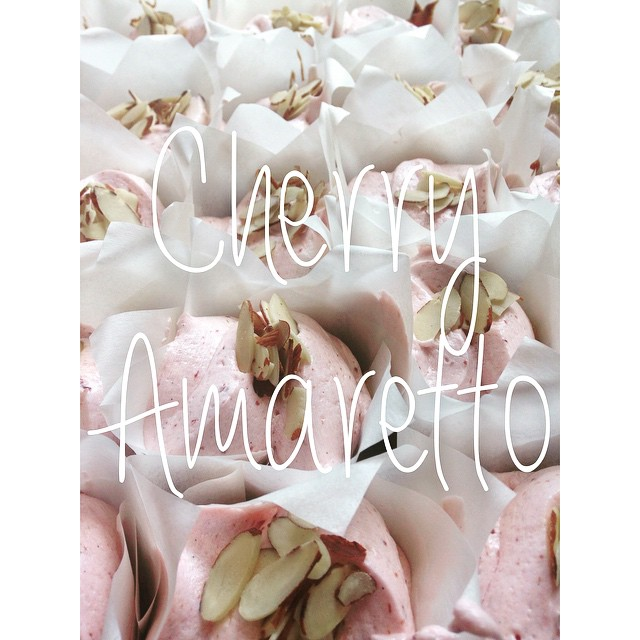 Hellllloooo Cherry Amaretto!! Definitely loving our new summer flavor! #almondcake #cherrybuttercrea