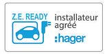 borne de recharge HAGER