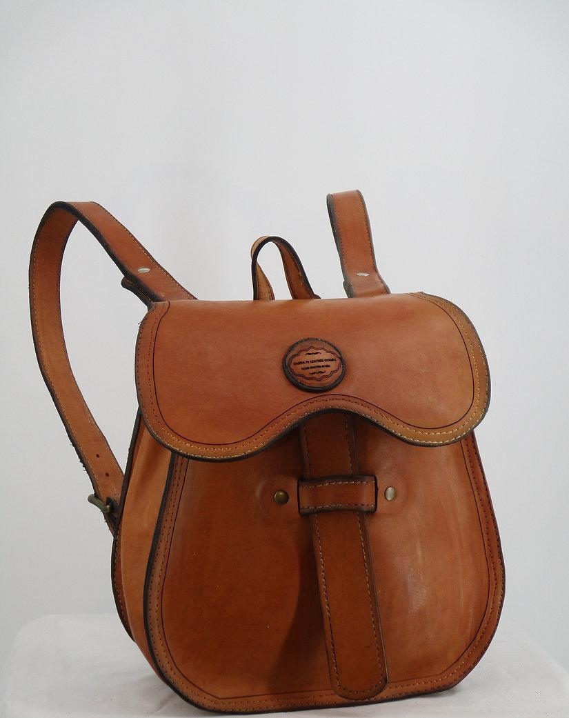 Teardrop Backpack Natural Leather