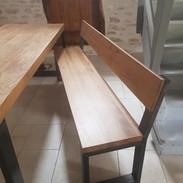Création d'un banc correspondant à la table existante