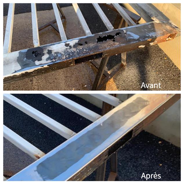 Réfection portail avant/après