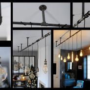 Luminaire tubes de plomberie suspendu