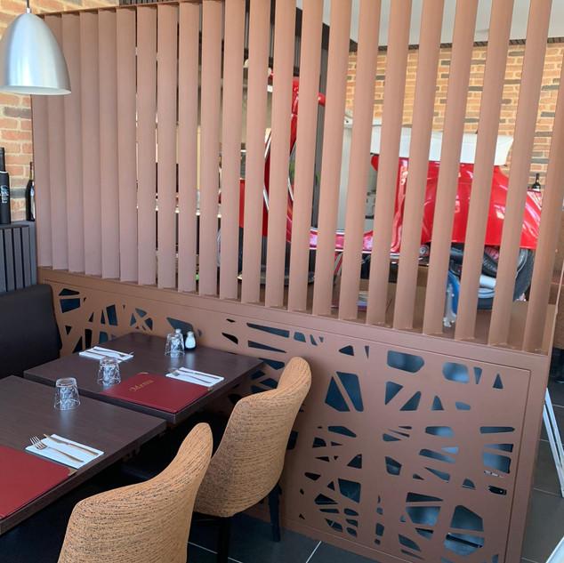 Brise vue restaurant Atelier Supersax