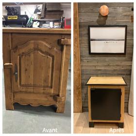 Customisation d'un petit meuble de chalet