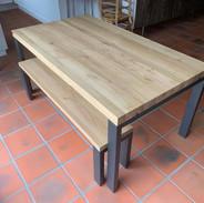 Table sur-mesure en chêne avec son banc Atelier Supersax