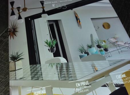 Parution dans le fameux magazine DOMODECO de Lyon