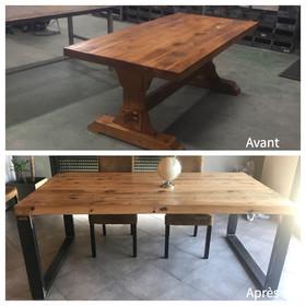 Customisation de vos anciennes tables massives