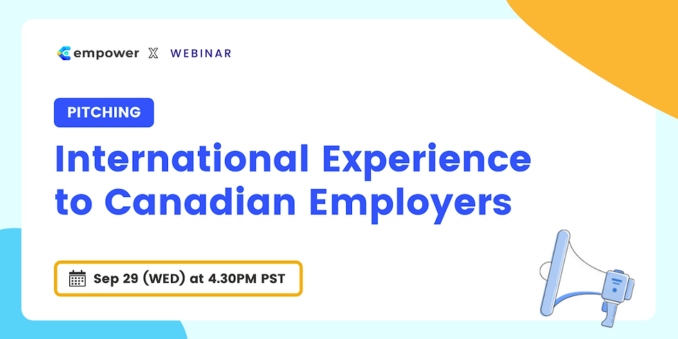 Pitching International Experience to Canadian Employers