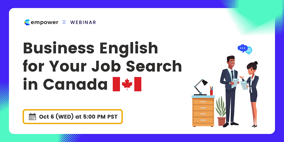 Business English for Your Job Search in Canada