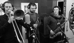 In the studio with Snakebite Horns