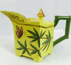 Bamboo and Butterfly Yellow teapot small.jpg